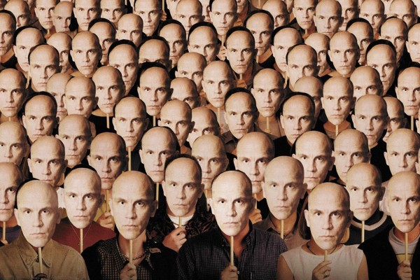BEING JOHN MALKOVICH, key art featuring John Malkovich, 1999. © USA Films/ Courtesy: Everett Collection
